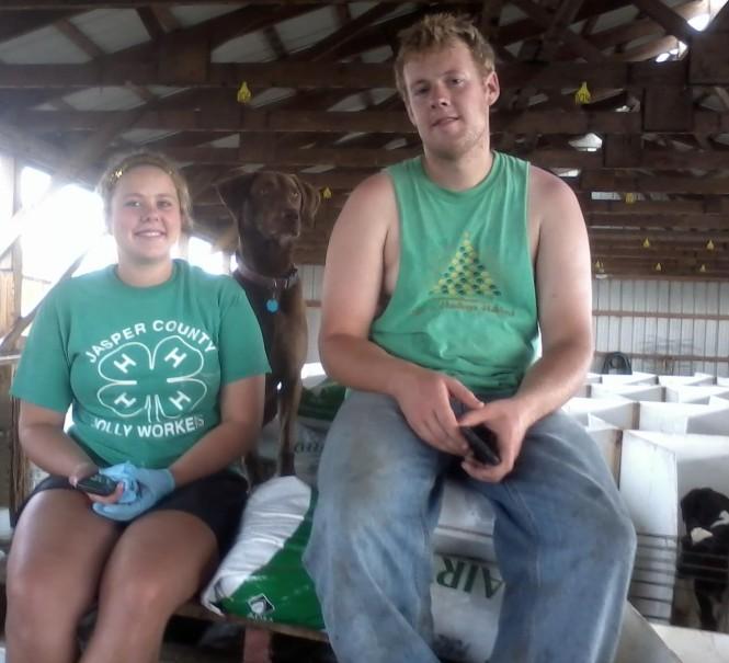 Kids in Calf shed 2014