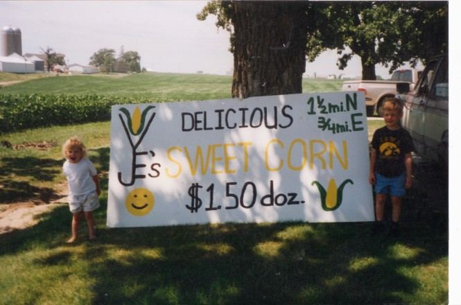 J & E's First Year of Sweet Corn 1997