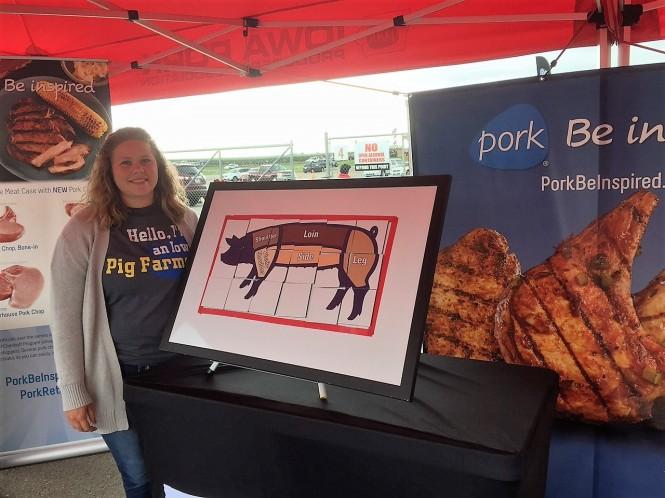 Emily at Pork Tent